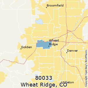 Wheat_Ridge,Colorado(80033) Zip Code Map