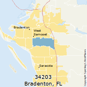 Bradenton,Florida(34203) Zip Code Map
