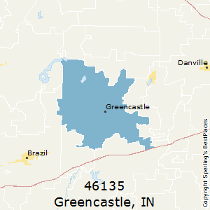 Greencastle,Indiana(46135) Zip Code Map