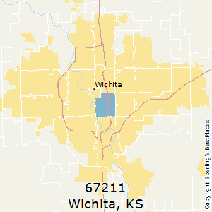 Wichita,Kansas(67211) Zip Code Map