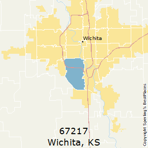 Wichita,Kansas(67217) Zip Code Map