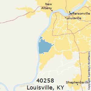 Louisville,Kentucky(40258) Zip Code Map