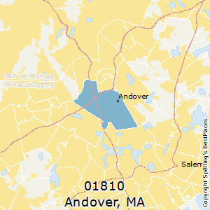 Andover,Massachusetts(01810) Zip Code Map