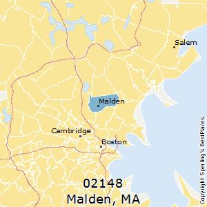 Malden,Massachusetts(02148) Zip Code Map
