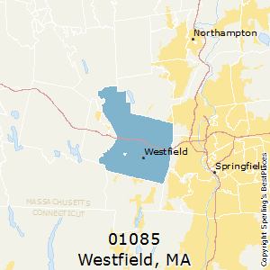 Westfield,Massachusetts(01085) Zip Code Map