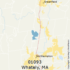 Whately,Massachusetts(01093) Zip Code Map