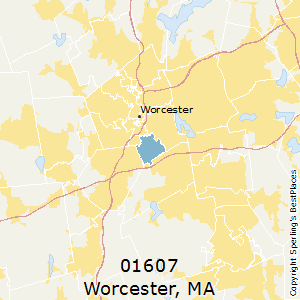 Worcester,Massachusetts(01607) Zip Code Map