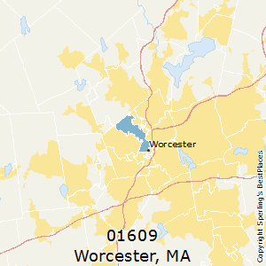 Worcester,Massachusetts(01609) Zip Code Map