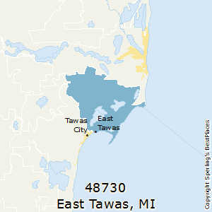 East_Tawas,Michigan(48730) Zip Code Map