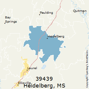 Heidelberg,Mississippi(39439) Zip Code Map