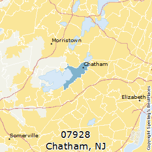 Chatham,New Jersey(07928) Zip Code Map