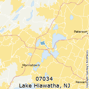 Lake_Hiawatha,New Jersey(07034) Zip Code Map