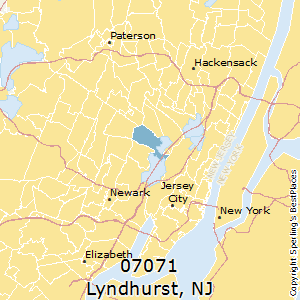 Lyndhurst,New Jersey(07071) Zip Code Map