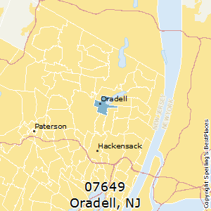Oradell,New Jersey(07649) Zip Code Map