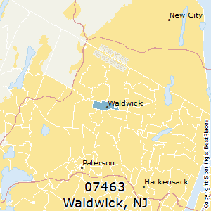 Waldwick,New Jersey(07463) Zip Code Map