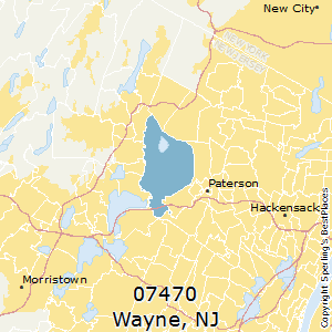 Wayne,New Jersey(07470) Zip Code Map