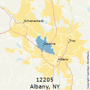 Albany,New York(12205) Zip Code Map