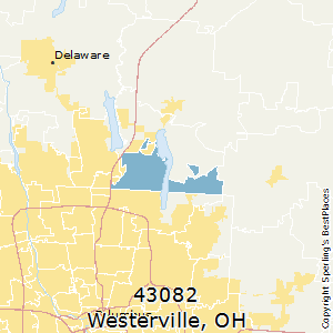 Westerville,Ohio(43082) Zip Code Map