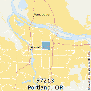 Portland,Oregon(97213) Zip Code Map