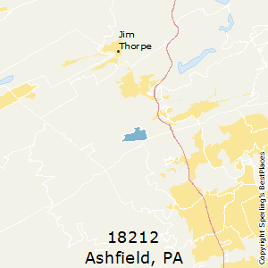 Ashfield,Pennsylvania(18212) Zip Code Map