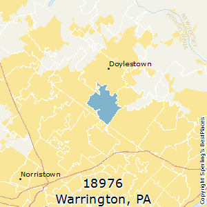 Warrington,Pennsylvania(18976) Zip Code Map