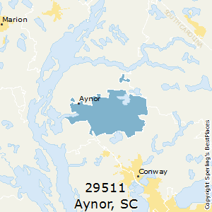 Aynor,South Carolina(29511) Zip Code Map