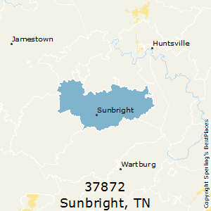 Sunbright,Tennessee(37872) Zip Code Map
