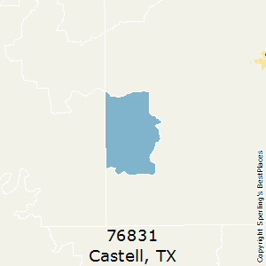 Castell,Texas(76831) Zip Code Map