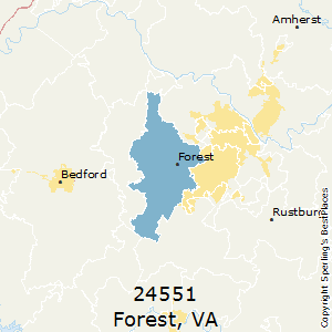 Forest,Virginia(24551) Zip Code Map