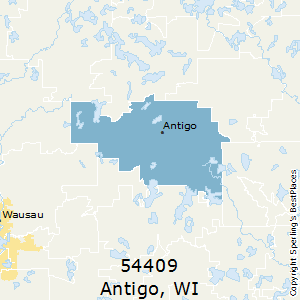 Antigo,Wisconsin(54409) Zip Code Map