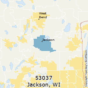 Jackson,Wisconsin(53037) Zip Code Map