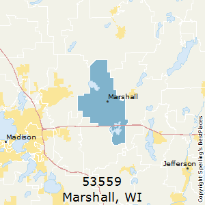 Marshall,Wisconsin(53559) Zip Code Map