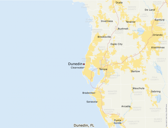 Dunedin Florida Map.Best Places To Live Compare Cost Of Living Crime Cities Schools