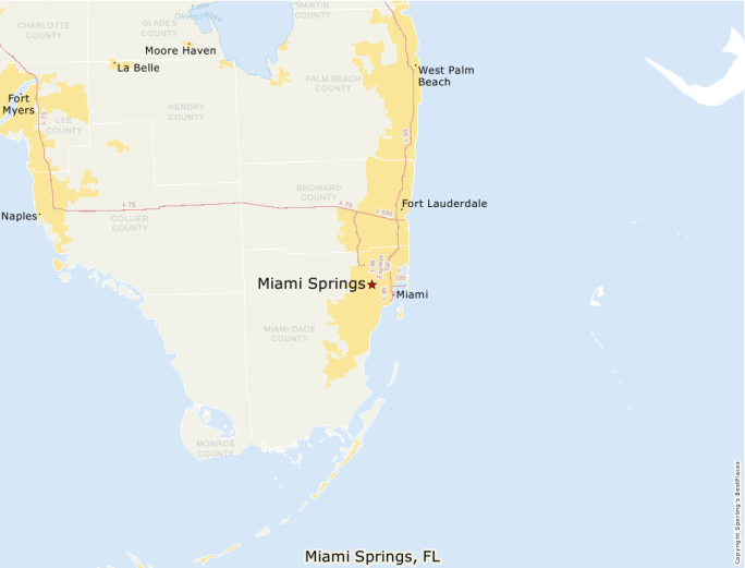 Miami Springs Florida Map.Best Places To Live Compare Cost Of Living Crime Cities Schools