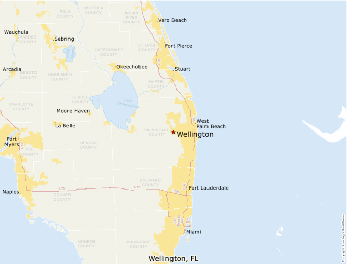 Map Of Wellington Florida.Best Places To Live Compare Cost Of Living Crime Cities Schools