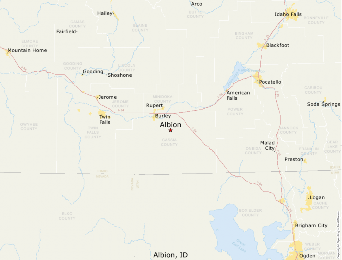 Albion Idaho Map.Best Places To Live Compare Cost Of Living Crime Cities Schools