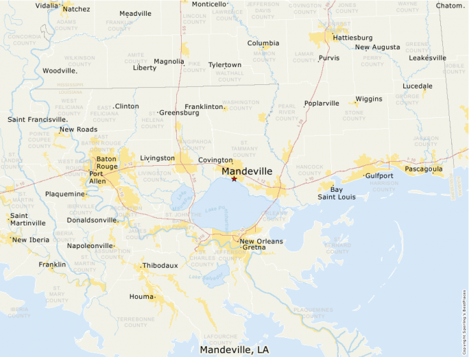 Mandeville Louisiana Map.Best Places To Live Compare Cost Of Living Crime Cities Schools