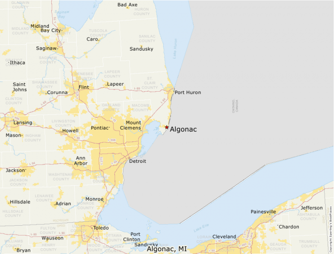 Algonac Michigan Map.Best Places To Live Compare Cost Of Living Crime Cities Schools