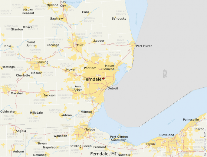 Ferndale Michigan Map.Best Places To Live Compare Cost Of Living Crime Cities Schools