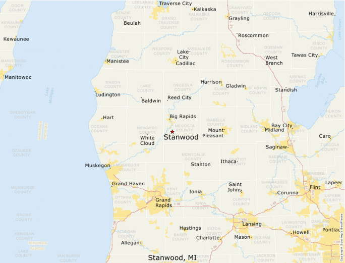 Stanwood Michigan Map.Best Places To Live Compare Cost Of Living Crime Cities Schools