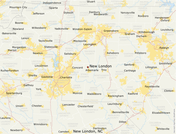 New London Nc Map.Best Places To Live Compare Cost Of Living Crime Cities Schools