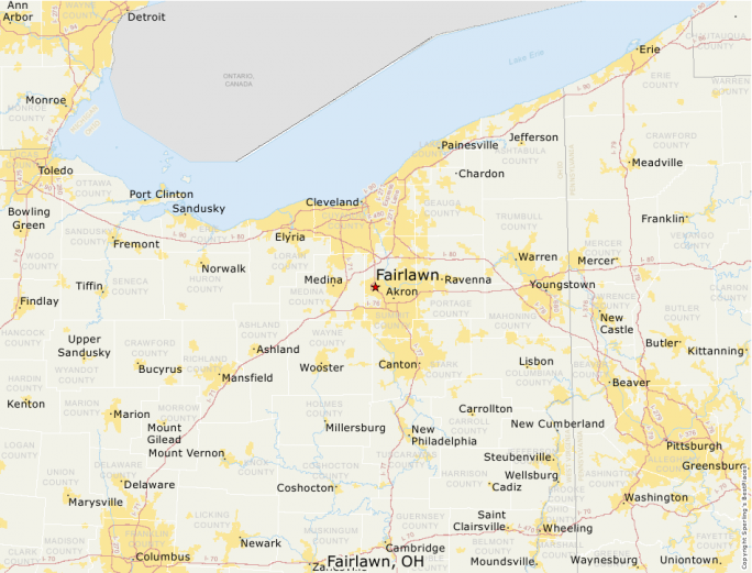 Fairlawn Ohio Map.Best Places To Live Compare Cost Of Living Crime Cities Schools