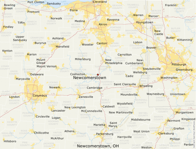 Newcomerstown Ohio Map.Best Places To Live Compare Cost Of Living Crime Cities Schools
