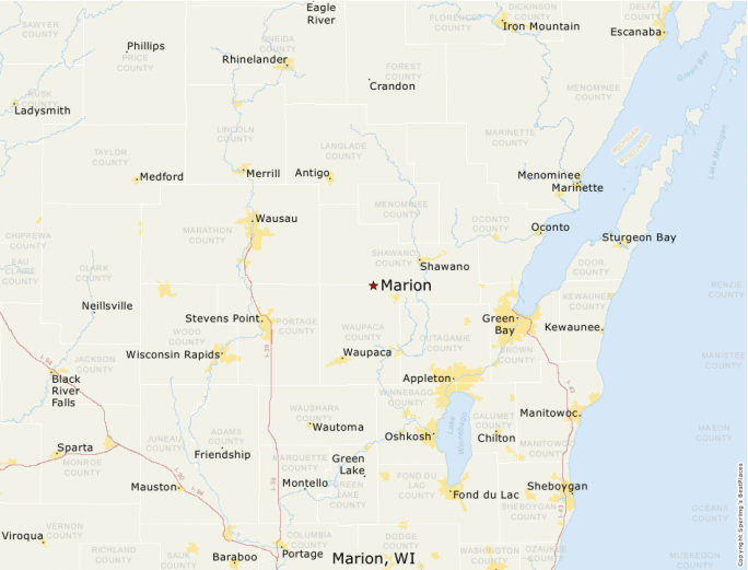 Marion Wisconsin Map.Best Places To Live Compare Cost Of Living Crime Cities Schools