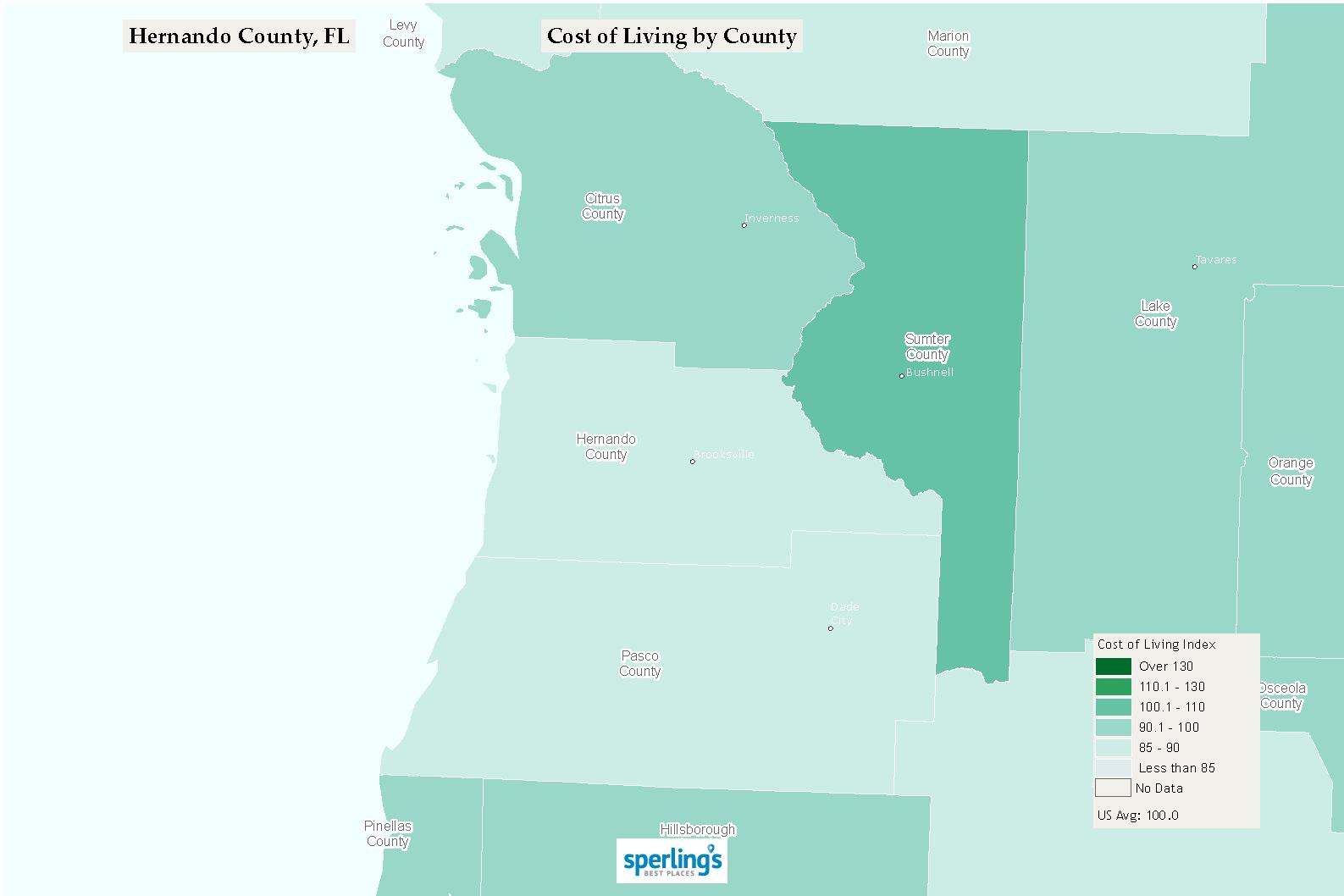 Hernando County Crime Map