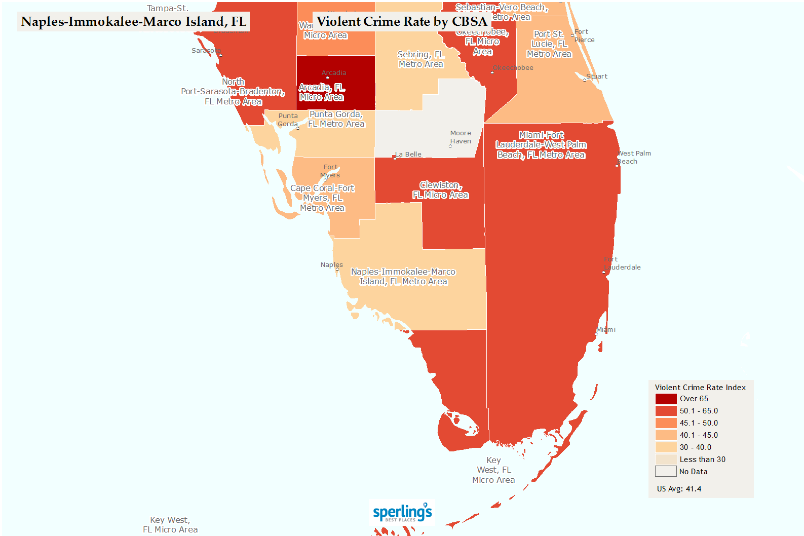 Crime Map Of Florida.Best Places To Live Compare Cost Of Living Crime Cities Schools