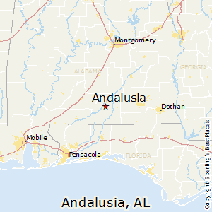 Andalusia,Alabama Map