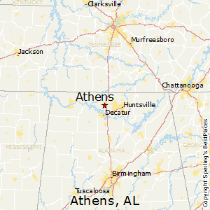 Athens,Alabama Map