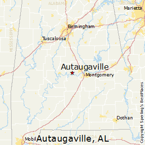 Autaugaville,Alabama Map