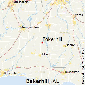 Bakerhill,Alabama Map